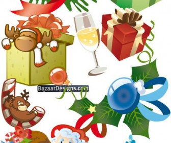 Christmas Gift Vector Design Elements