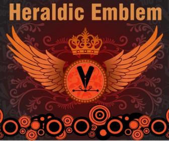 Heraldic Emblems Free Vector