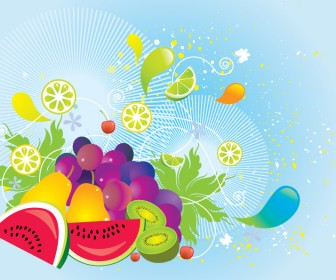 Free Fruit Vector in Colorful Style