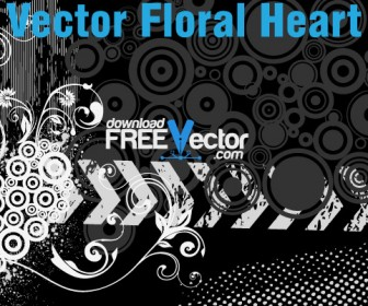 Free Vector Floral Heart