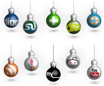 Free Christmas Social Icons Vector