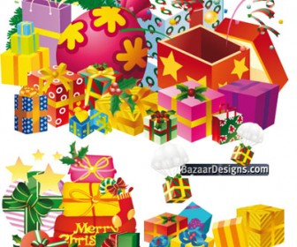 Colorful Christmas Gift Vector Pack