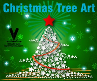 Christmas Tree Vector Art Graphics