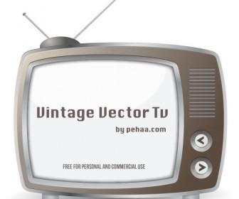 Vintage Television Vector Art