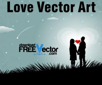 Love Vector Art Background