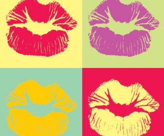 Kiss Vector Pop Art Graphic