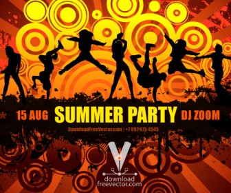 Summer Party Vector Grunge