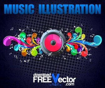 Music Illustration Vector Freebies