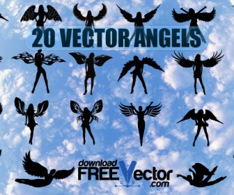 Vector Angel Freebies Silhouette Pack