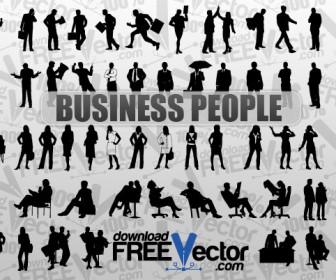 Vector Business People Silhouette Pack