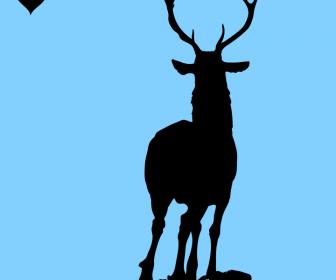 Deer Vector Silhouette Illustration