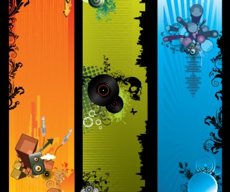 Music Banner Graphic Vector Template