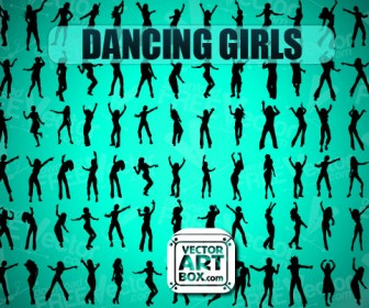 Dancing Girl Silhouette Vector Pack