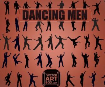 Vector Dancing Men Silhouette Freebies Pack