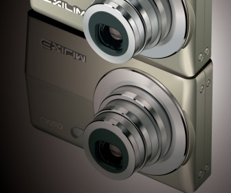 Casio Exilim Camera Vector Illustration