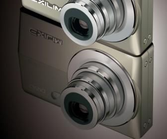Casio Exilim Camera Vector Illustration