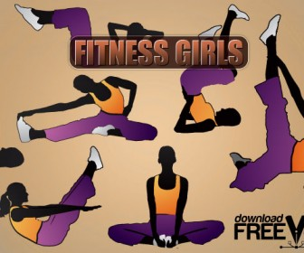 Fitness Girls Vector Health Pack