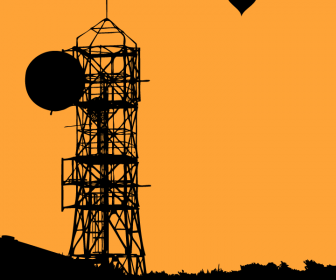 Water Tower Vector Background