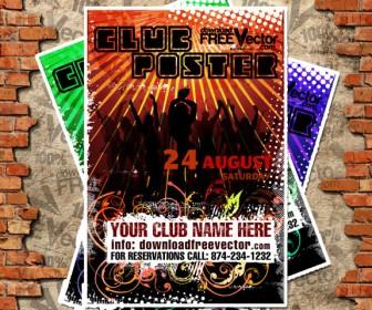 Club Poster Design Vector Graphics