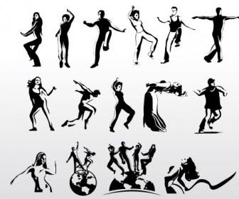Dancing Silhouette Vector Pack