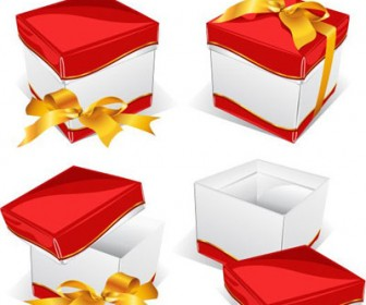 Gift Vector with Red Box Freebies Pack