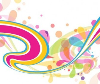 Colorful Abstract Background Vector Graphics