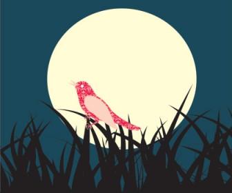 Midnight Symphony Landscape Vector Illustration