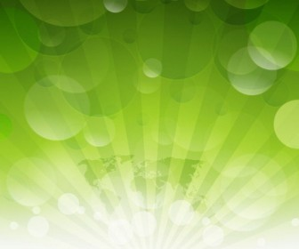 Abstract Green Background Vector Graphics