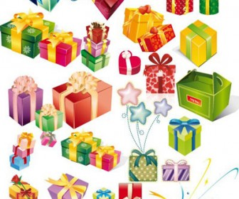Gift Box Vector Graphics Freebies Pack