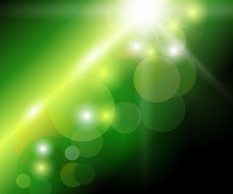 Bokeh Background Green Abstract Vector