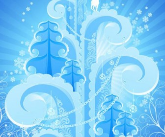 Snow Sculpture Vector Winter Background