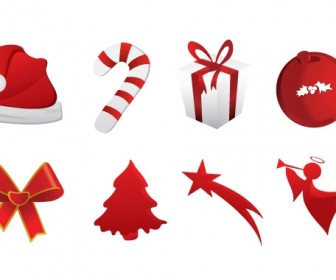 Christmas Icons Vector Freebies Pack