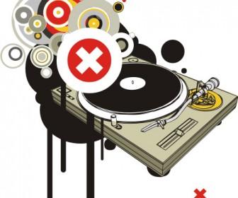 Music Card Grunge Template
