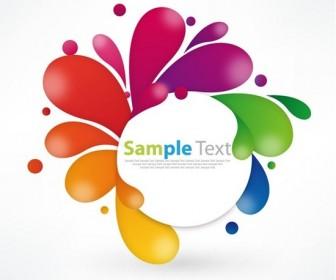 Colorful Floral Design Illustration Vector Art