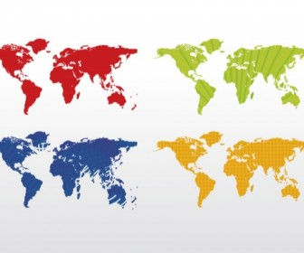 World Map Colorful Free Vector Graphic Art