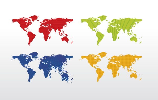 World map colorful free vector graphic art preview this vector gumiabroncs Gallery