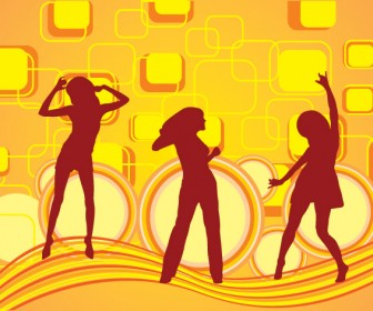 Dancing Girl Silhouette Freebies Pack