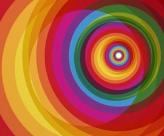 Colorful Rainbow Circle Background