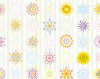 Floral Pattern Pastel Color