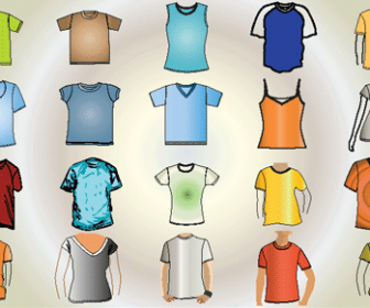 T-shirt Free Vector Pack