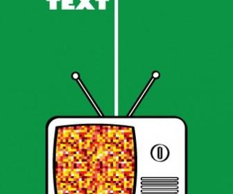 Retro Television Pixel Card