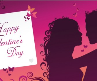 Valentine Card Romantic Vector Graphic Art