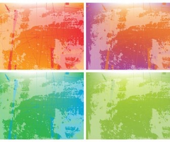 Grunge Background Colorful Free Vector Art
