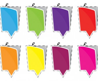 Stickers Vector Colorful Freebies Pack