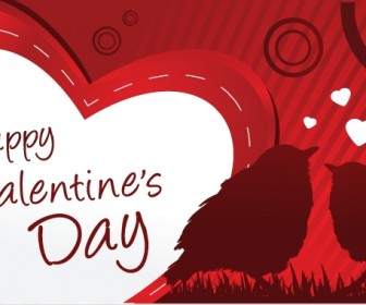 Happy Valentine Day Card Vector Graphics