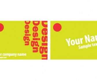 Visit Card Green Typography Vector