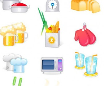 Cooking Icon Freebies Vector Pack