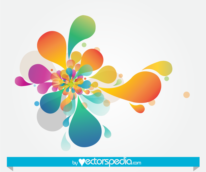 Abstract Flower Background With Decoration Elements For: Free Flower Vector Art Abstract Background