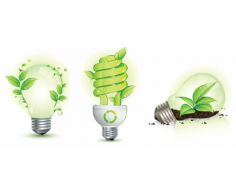 Ecology Icon Lamps Vector Pack
