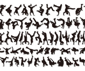 Hiphop Silhouette Free Vector Pack